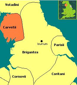 Carvetii Territory- wikimedia.org