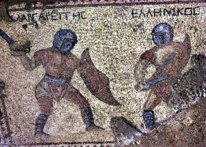 Mosaic in the House of the Gladiators in Kourion
