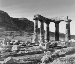 GREECE. Peloponnese. Corinth. Temple of Apollon. Photographer Herbert List, 1937