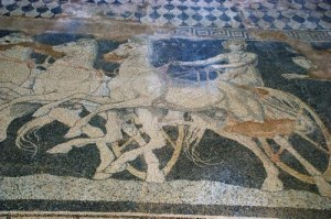 pella lion mosaic