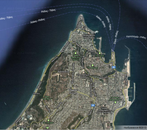 Screenshot of Rhodes FROM: https://maps.google.com