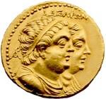 Coin depicting Ptolemy II and Arsinoe II Philadelphus
