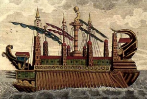 The Syracusia as depicted in the 1700's